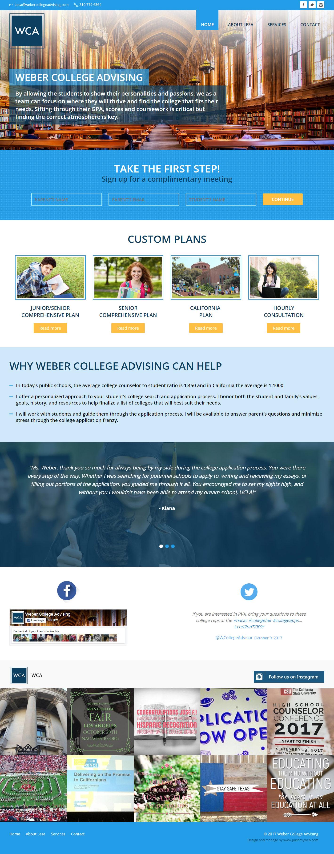 Weber College Advising